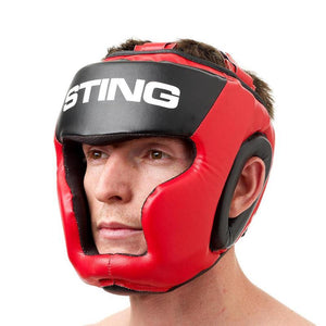 STING ARMALITE HEADGUARD RED/BLACK