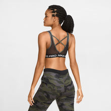 Load image into Gallery viewer, NIKE WOMENS NIKE PRO SWOOSH CAMO SPORTS BRA | THUNDER GREY