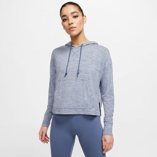 NIKE WOMENS YOGA CROPPED HOODIE | DIFFUSED BLUE