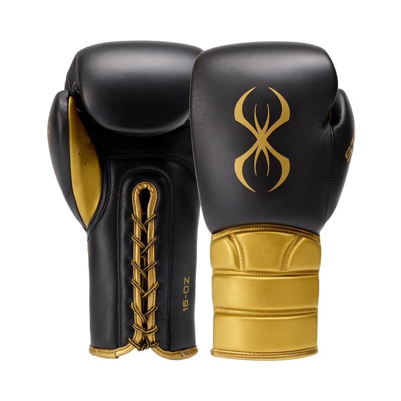 STING VIPER SPARRING GLOVE BLACK/GOLD  (L)
