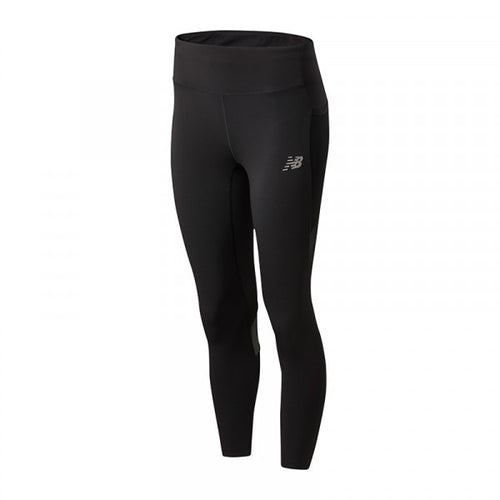 NEW BALANCE WOMENS IMPACT RUN CROP | BLACK