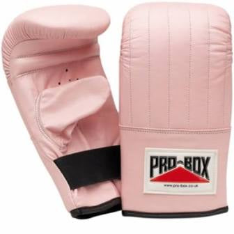 PRO BOX LEATHER BAG MITTS | PINK