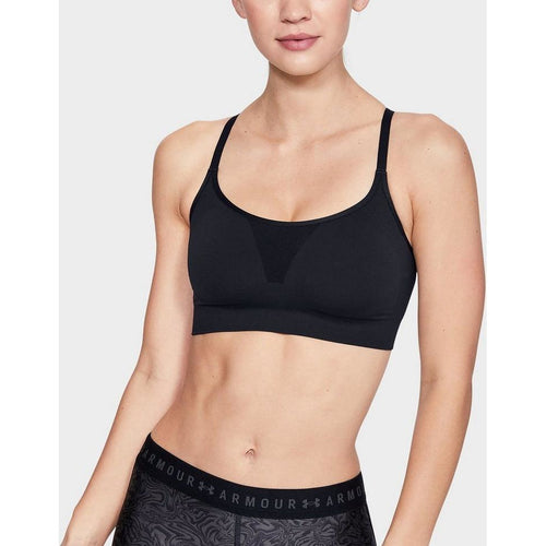 UA WOMENS VANISH SEAMLESS ESSENTIALS BRA | BLACK