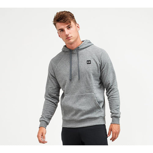 UNDER ARMOUR MENS RIVAL FLEECE HOODIE | PITCH GREY