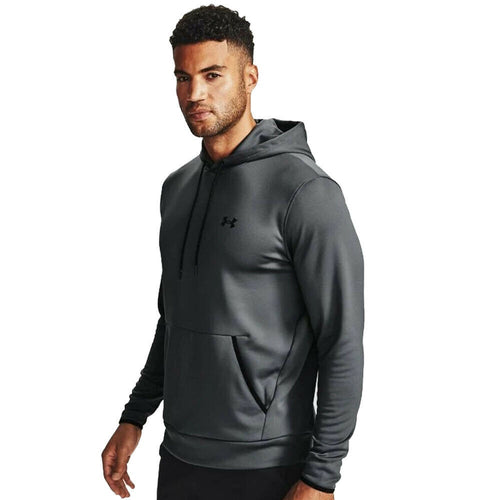 UNDER ARMOUR MENS FLEECE HOODY | GREY