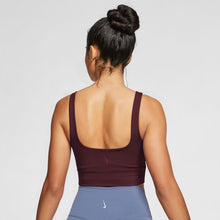 Load image into Gallery viewer, NIKE WOMENS YOGA LUXE CROP TANK | DARK BEETROOT