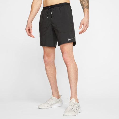 NIKE MENS FLEX STRIDE BRIEF RUNNING SHORTS | BLACK