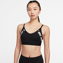 Load image into Gallery viewer, NIKE WOMENS INDY LOGO SPORTS BRA | BLACK