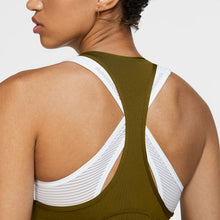 Load image into Gallery viewer, NIKE WOMENS NIKE PRO MESH TANK | OLIVE FLAK