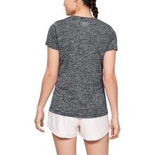 Load image into Gallery viewer, UA WOMENS TECH TRAINING TEE TWIST | BLACK