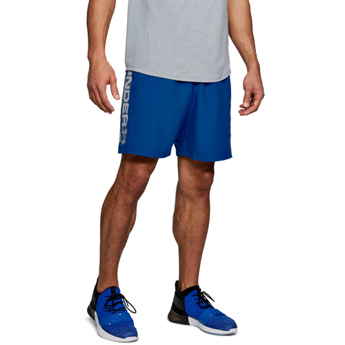 UNDER ARMOUR MENS WOVEN WORDMARK SHORT | ROYAL BLUE
