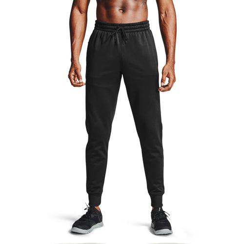 UNDER ARMOUR MENS FLEECE JOGGERS | BLACK