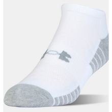 Load image into Gallery viewer, UA Heatgear Tech No Show Socks White