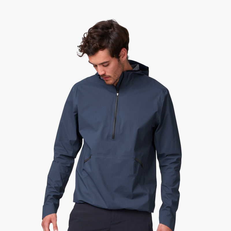 ON WATERPROOF ANORAK NAVY