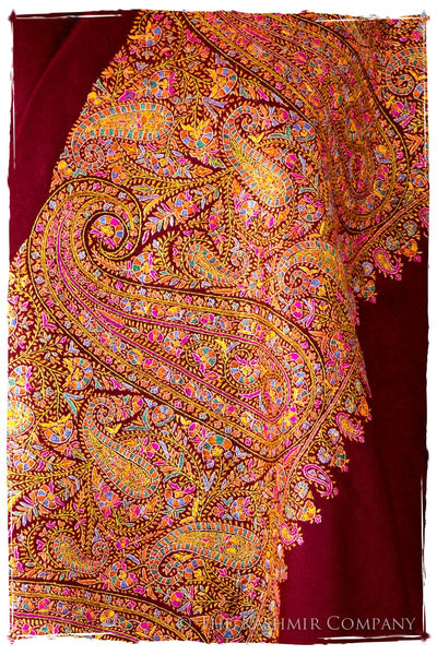 La Coquette Bordeaux - Grand Pashmina Shawl