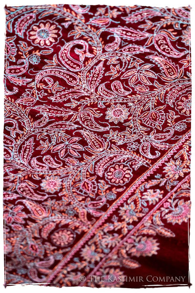 The Kaleidoscope Bordeaux Moondance - Grand Pashmina Shawl