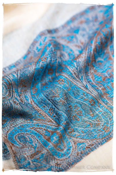 Sherine Paisley Frontière Pashmina Cashmere Scarf