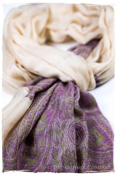 Ruqayya Paisley Frontière Pashmina Cashmere Scarf