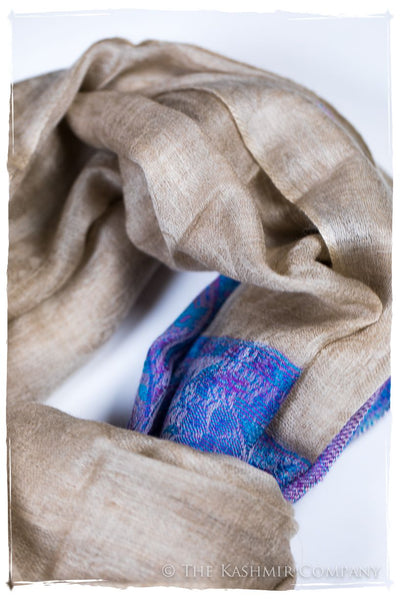 Naziha Paisley Frontière Pashmina Cashmere Scarf
