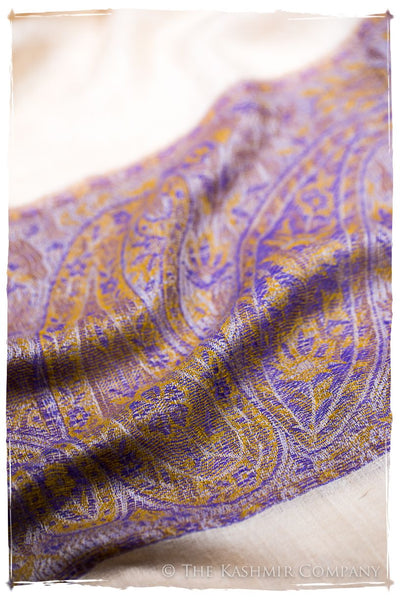 Nafisa Paisley Frontière Pashmina Cashmere Scarf