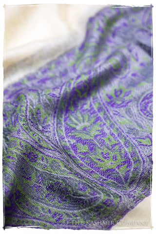 Maysoon Paisley Frontière Pashmina Cashmere Scarf