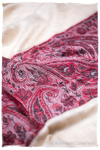 Layal Paisley Frontière Pashmina Cashmere Scarf