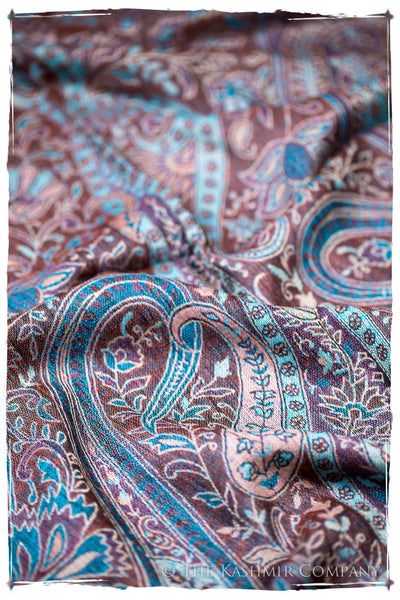 Ludovica Paisley Reversible Kashmir Wool Scarf