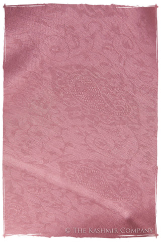 Jacquard Paisley Rosebloom Cashmere Scarf