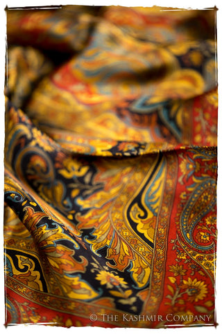 Isabélla of Aragon Cashmere Square Silk Scarf