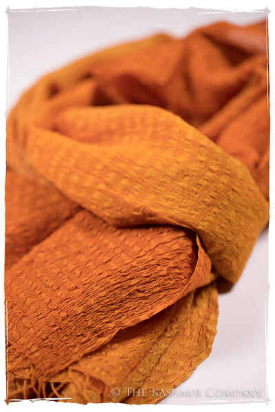 Persimmon Crush Organic Silk Scarf