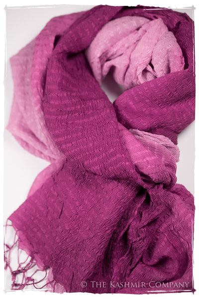 Raspberry Rose Crush Organic Silk Scarf