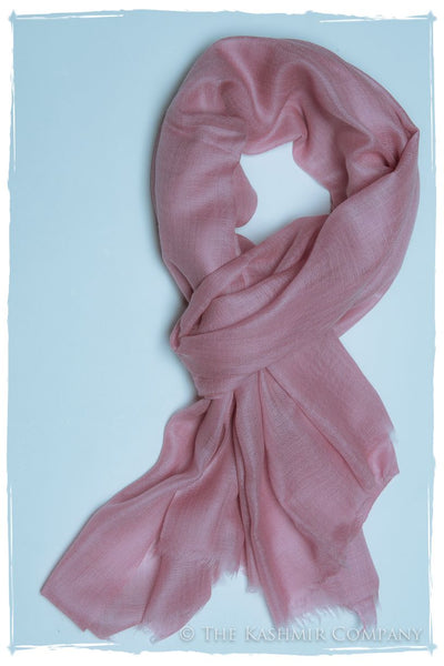 Sweet Lilac Pink Cashmere Scarf