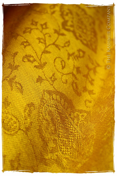 Dorothy's Yellow Brick Road - Citrus Gold Silk Scarf