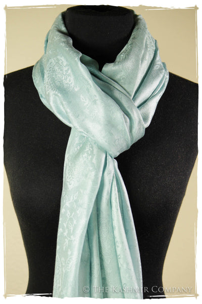 From Here To Eternity Blue - Fair Aqua Silk Scarf