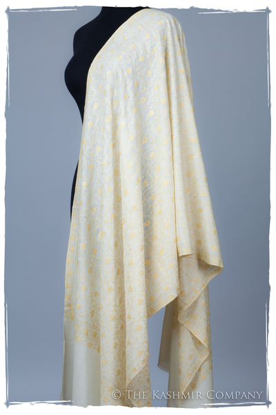 Gold Leaf Maple Ivory L'amour Soft Cashmere Shawl