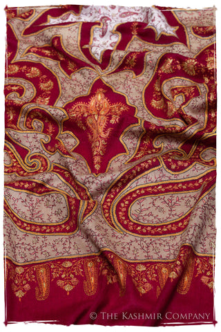 The Mona Lisa Maroon Deux Kashmir Shawl
