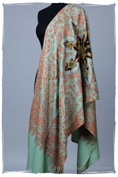 The Mona Lisa Jade Deux Kashmir Shawl