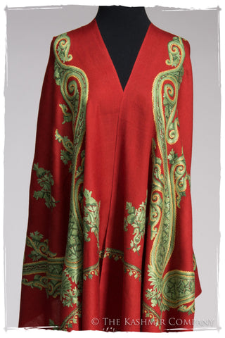 Regal Paisley Samba Rouge Shawl