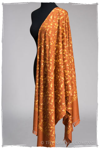 Terre de Sienne Gold Secret Garden Shawl