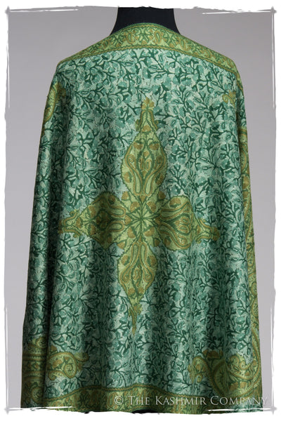 Royale Emerald Paisley Antiquaires Shawl