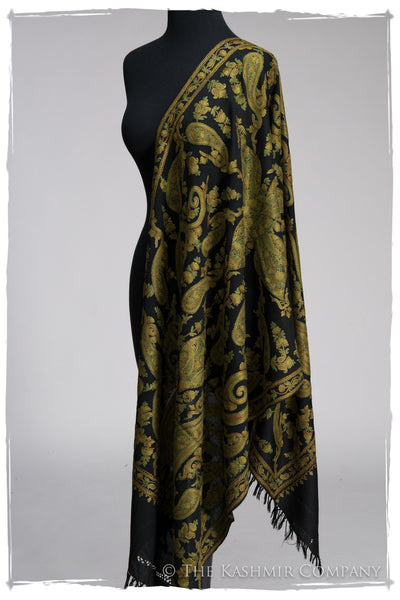 Rococo Emerald Paisley Antiquaires Shawl