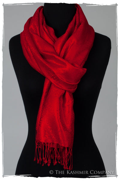 Life of the Party - Beauty Red Silk Scarf