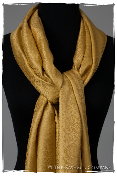 Sent From Above Gold Silk Scarf Seasons By The Kashmir