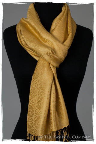 Sent From Above Gold Silk Scarf
