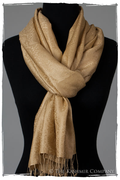 The Wonderful Life Gold Silk Shawl/Scarf