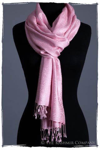 L'amour Paisley Silk Scarf
