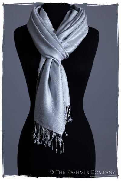 Argent Silver Paisley Silk Scarf
