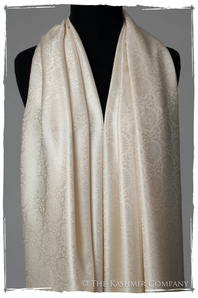 Angel's Wing - Ivory Silk Scarf