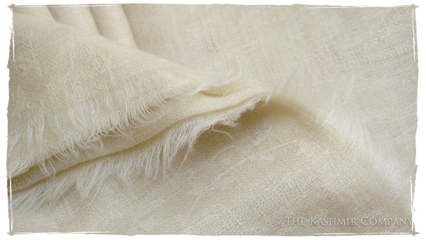 The Snowcapped Ivory Cashmere Scarf