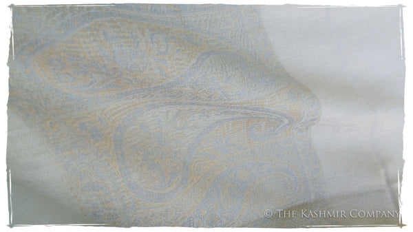 Noelle's Silver Cashmere Scarf